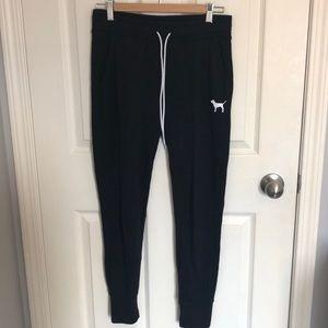 Black Skinny Pink Sweatpants